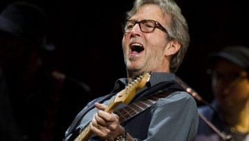 Eric Clapton performs at Eric Clapton's Crossroads Guitar Festival 2013 at Madison Square Garden on Sunday, April 14, 2013 in New York. (Photo by Charles Sykes/Invision/AP)