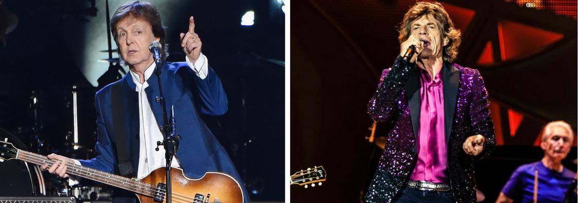 Resultado de imagem para Paul McCartney e Rolling Stones estão negociando shows no Brasil
