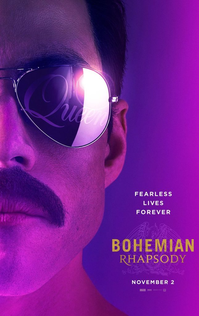 Mostrando desde o surgimento do Queen, Bohemian Rhapsody vai abordar os principais períodos da banda. Rami Malek interpreta Freddie Mercury.