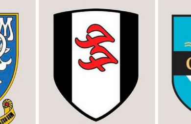 Tim Burgess, do The Charlatans, se inspirou em escudos de times reais para criar símbolos de times de futebol do Foo Fighters, Radiohead, Oasis, etc.
