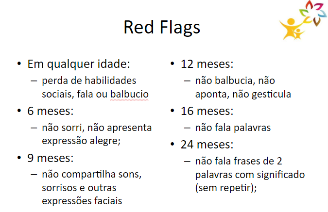bandeiras vermelhas do autismo